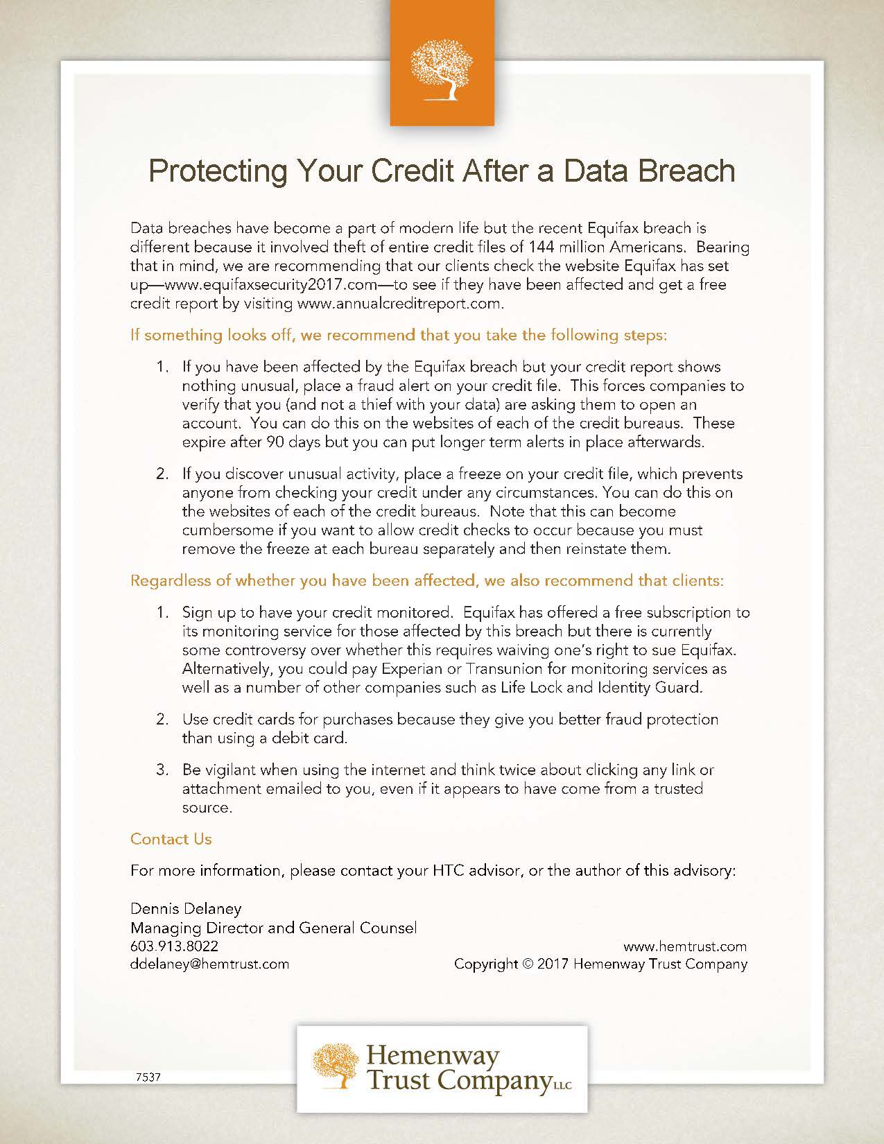 Protecting Your Credit After a Data Breach