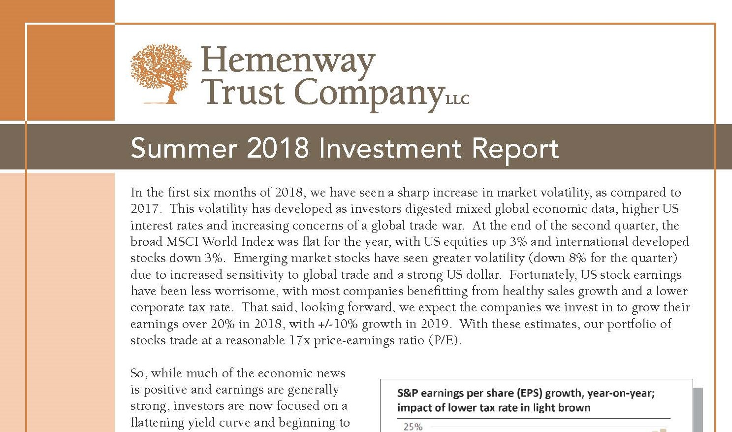 HTC Summer 2018 Investment Report